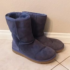 Navy blue classic short Uggs size 8